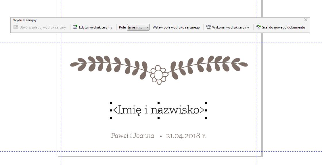Jak Zaprojektować Winietki ślubne Z Nazwiskami W Coreldraw