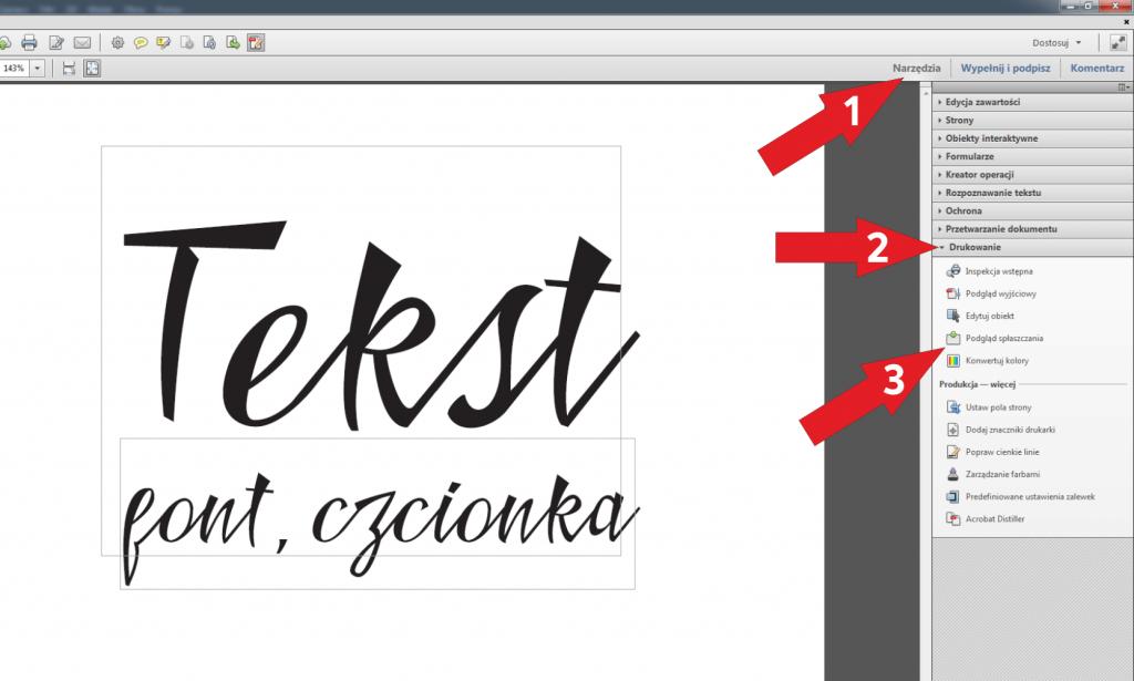 Jak zamienić font nakrzywe wdokumencie PDF