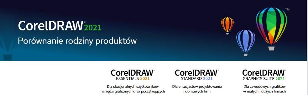 coreldraw porównanie produktów